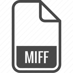 document, file, format, miff, type icon