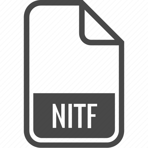 document, file, format, nitf, type icon