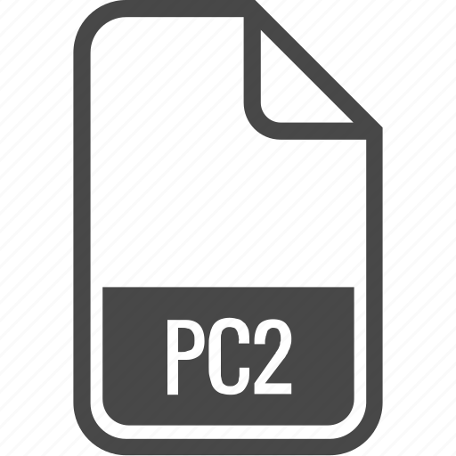 document, file, format, pc2, type icon