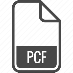 document, file, format, pcf, type icon