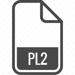 document, file, format, pl2, type icon