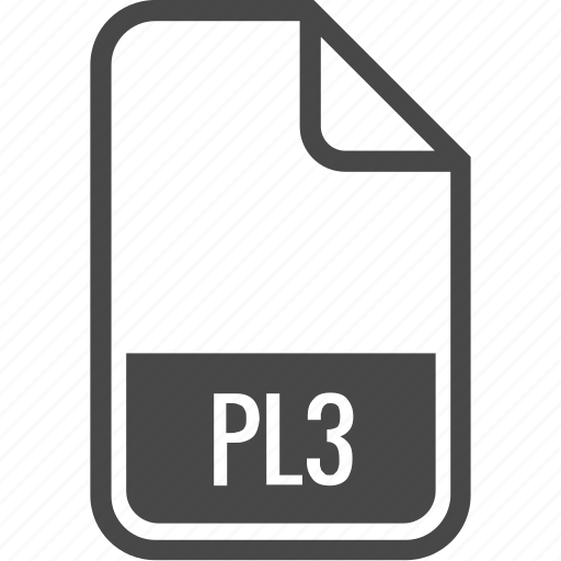 document, file, format, pl3, type icon