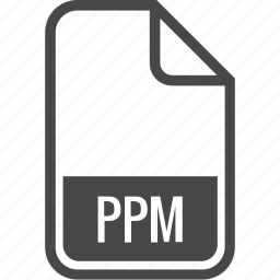 document, file, format, ppm, type icon