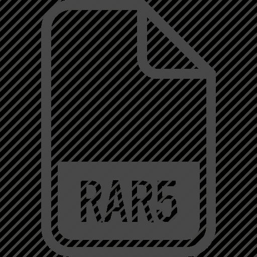 document, file, format, rar5, type icon