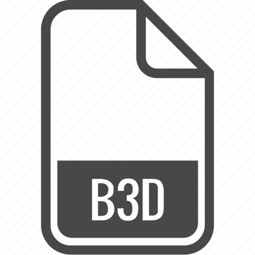 b3d, document, file, format, type icon