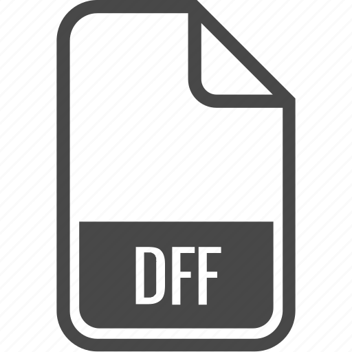 dff, document, file, format, type icon