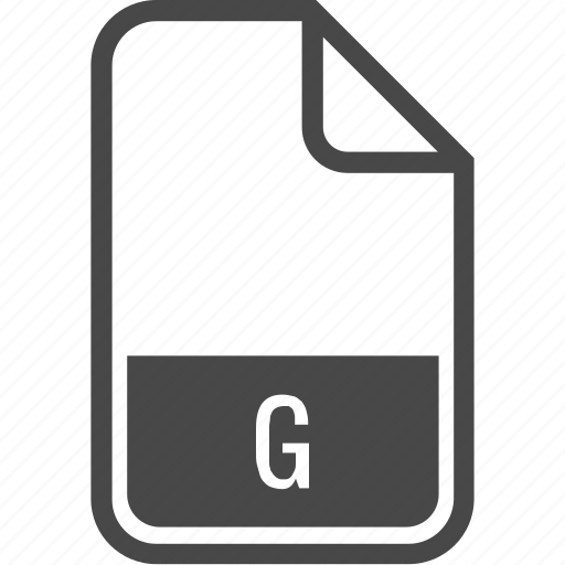 document, file, format, g, type icon