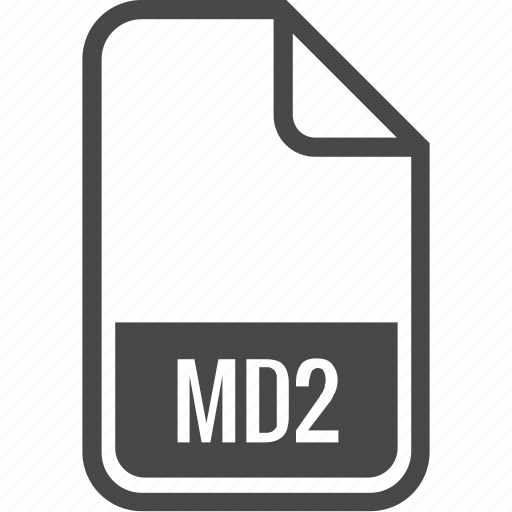document, file, format, md2, type icon