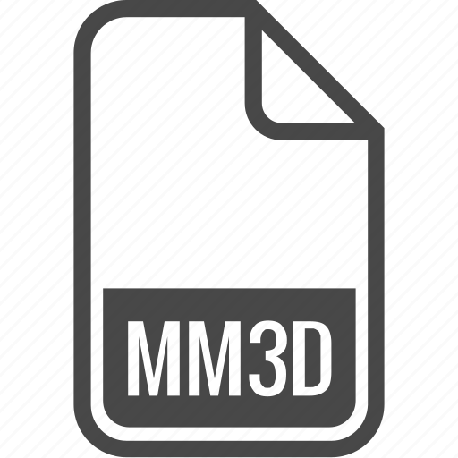 document, file, format, mm3d, type icon
