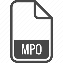 document, file, format, mpo, type icon