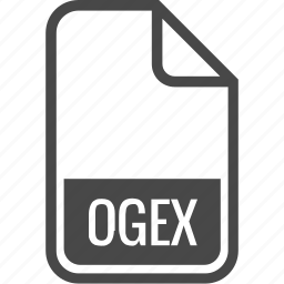 document, file, format, ogex, type icon