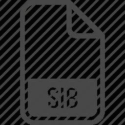 document, file, format, sib, type icon