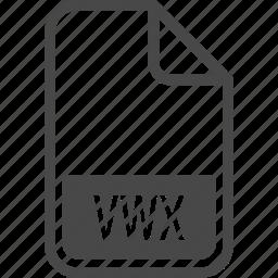 document, file, format, type, vwx icon