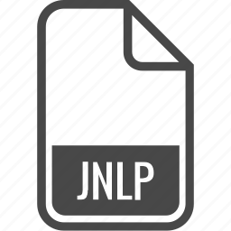 document, file, format, jnlp, type icon