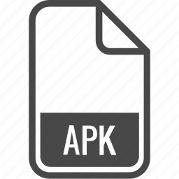 apk, document, file, format, type icon