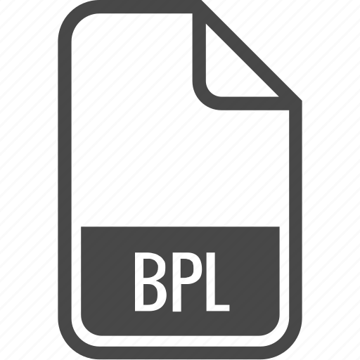 bpl, document, file, format, type icon