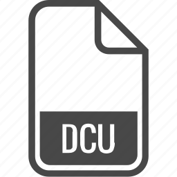 dcu, document, file, format, type icon