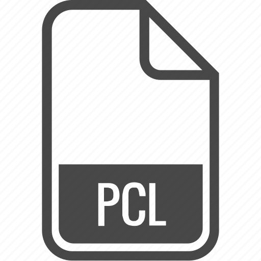 document, file, format, pcl, type icon