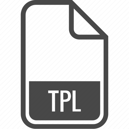 document, file, format, tpl, type icon