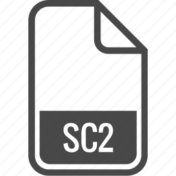 document, file, format, sc2, type icon