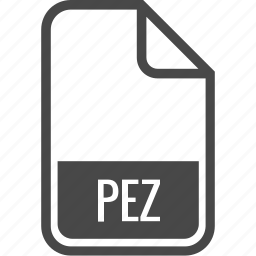 document, file, format, pez, type icon