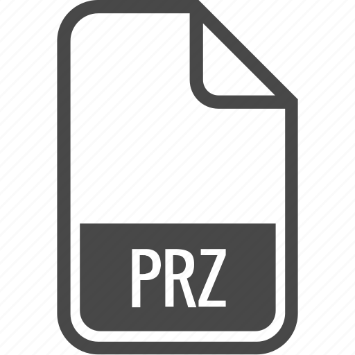 document, file, format, prz, type icon