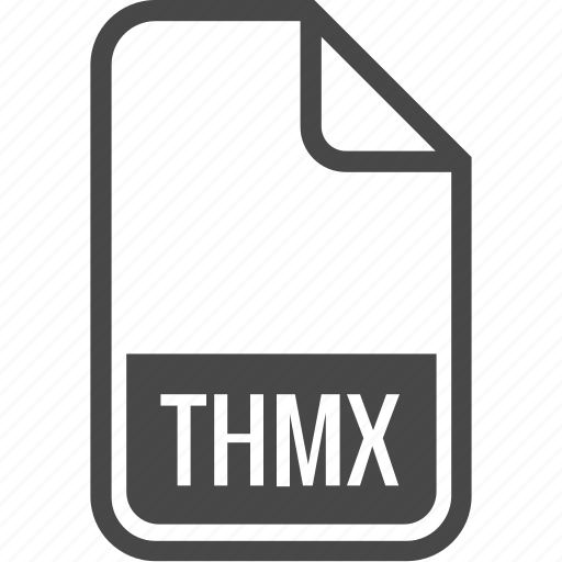 document, file, format, thmx, type icon