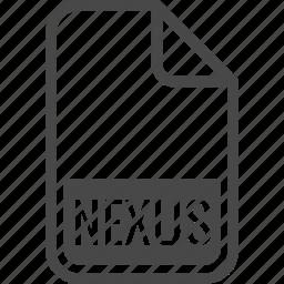 document, file, format, nexus, type icon