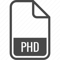 document, file, format, phd, type icon
