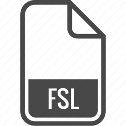 document, file, format, fsl, type icon