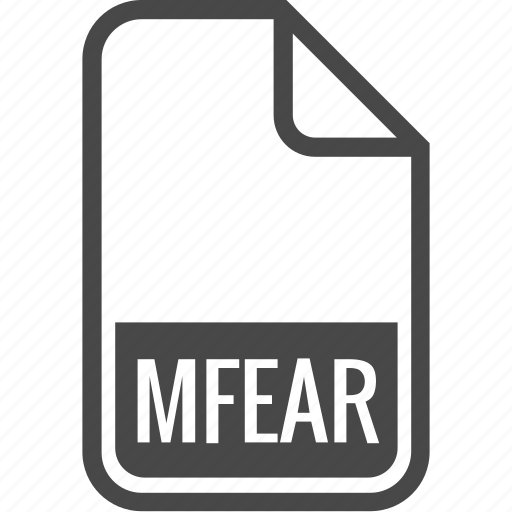 document, file, format, mfear, type icon