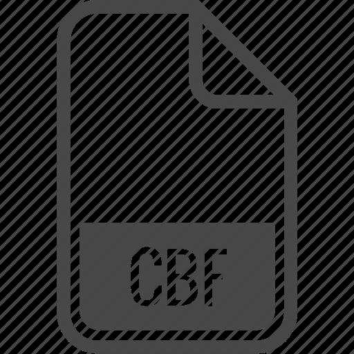 cbf, document, file, format, type icon