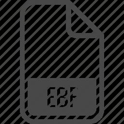 document, ebf, file, format, type icon