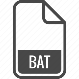 bat, document, file, format, type icon