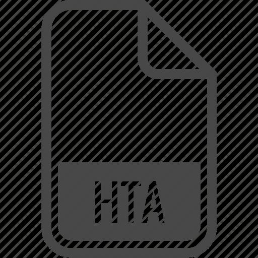 document, file, format, hta, type icon
