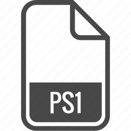 document, file, format, ps1, type icon