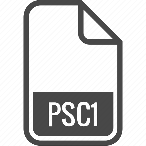 document, file, format, psc1, type icon