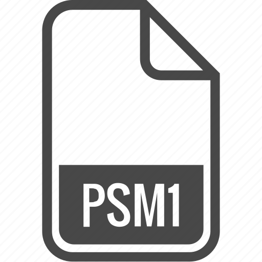 document, file, format, psm1, type icon