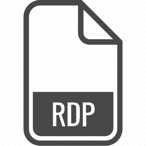 document, file, format, rdp, type icon