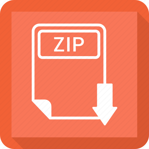 document, extension, file, format, paper, type, zip icon