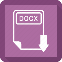 document, docx, extension, file, format, paper, type icon