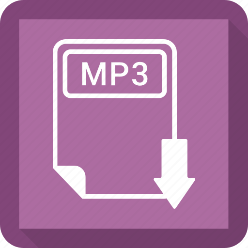 document, extension, file, format, mp3, paper, type icon