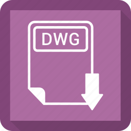 document, dwg, extension, file, format, paper, type icon