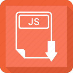 document, extension, file, format, js, paper, type icon