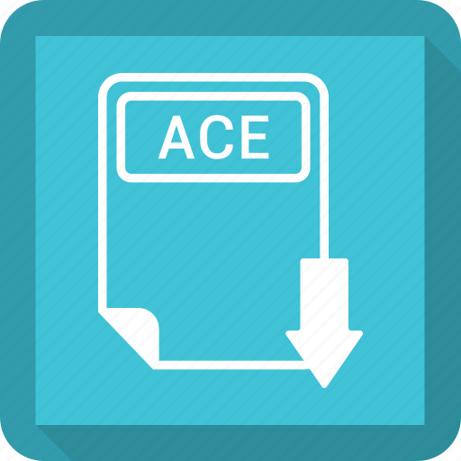 ace, document, extension, file, format, paper, type icon