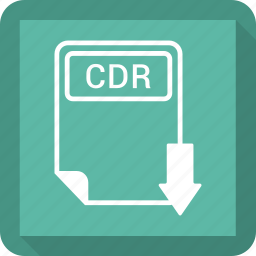 cdr, document, extension, file, format, paper, type icon