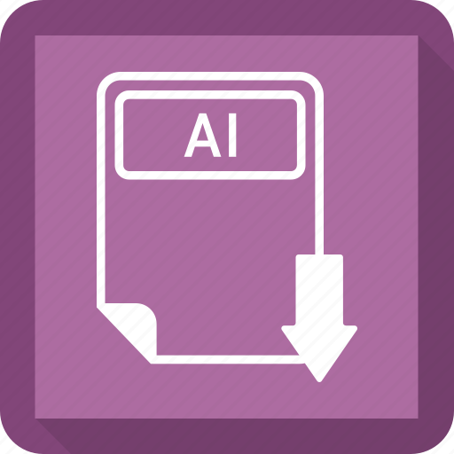 ai file, document, extension, file, format, paper, type icon