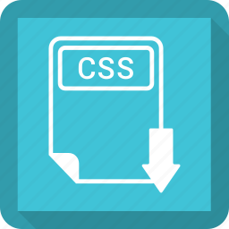 css, document, extension, file, format, paper, type icon