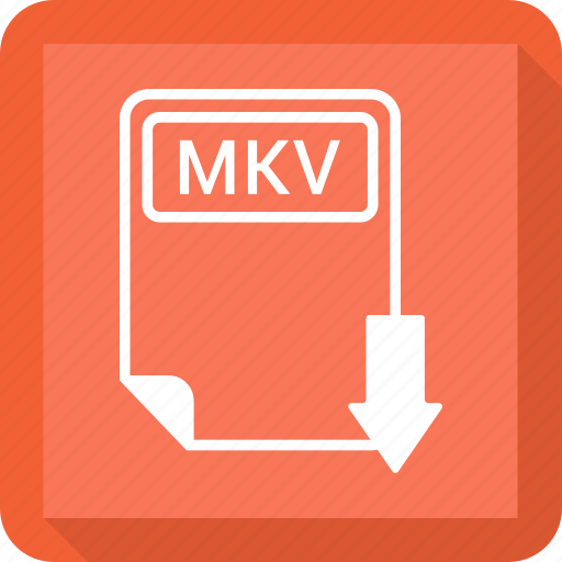 document, extension, file, format, mkv, paper, type icon