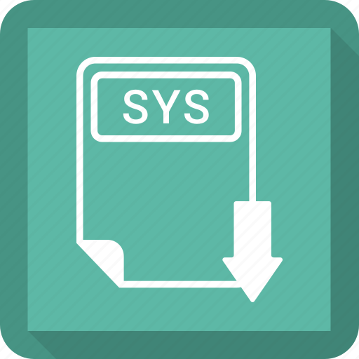 document, extension, file, format, paper, sys, type icon
